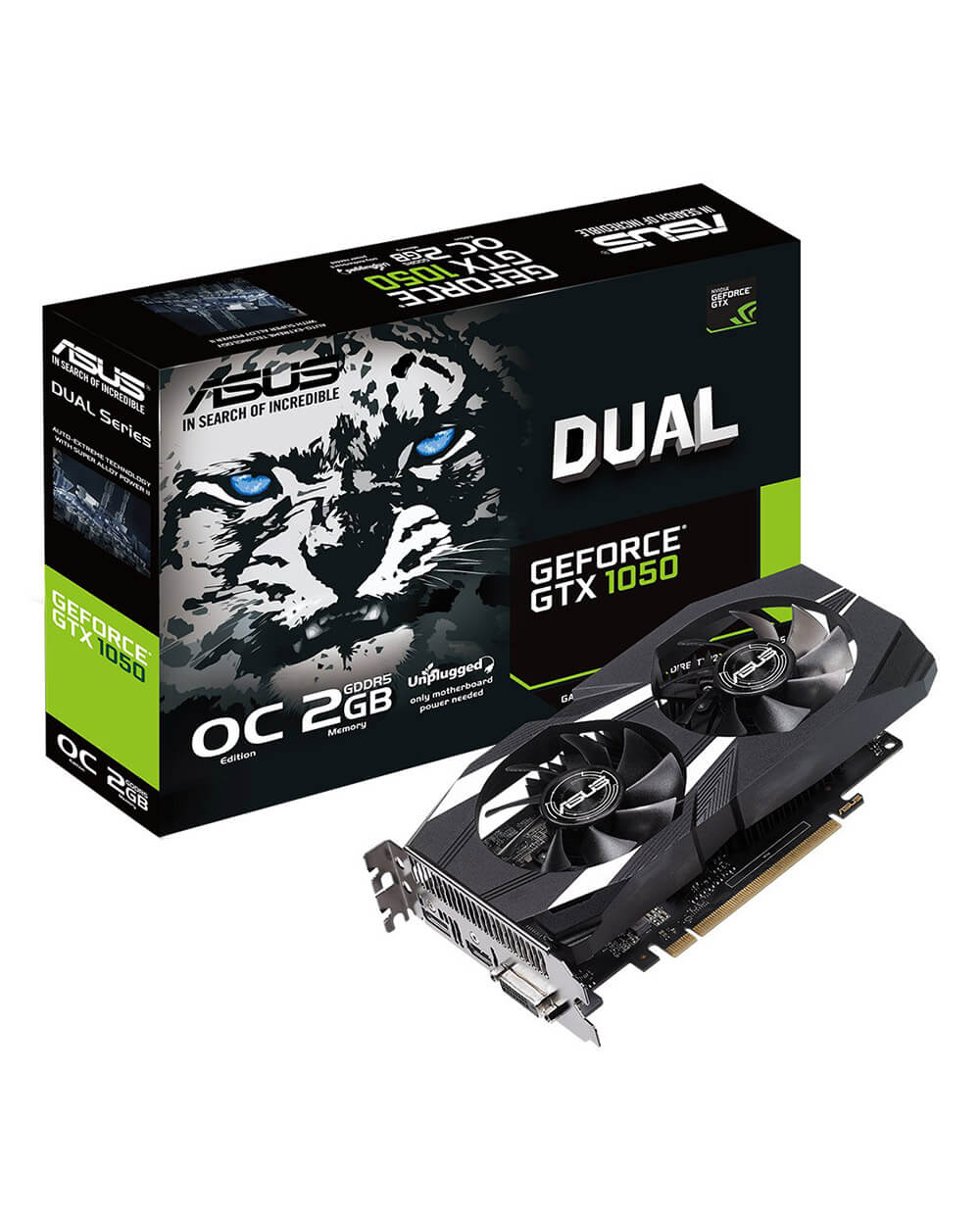 Card màn hình ASUS Dual series GeForce® GTX 1050 OC edition 2GB GDDR5