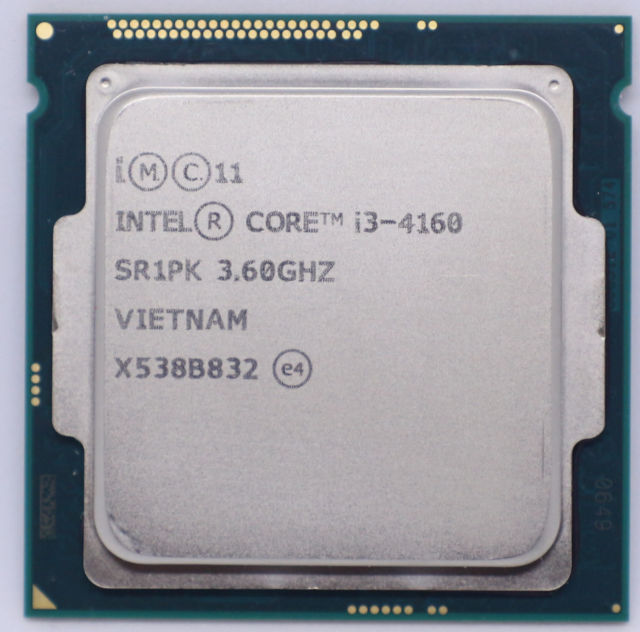 CPU Intel® Core™ i3-4160 Processor 3M Cache, 3.60 GHz (tray)