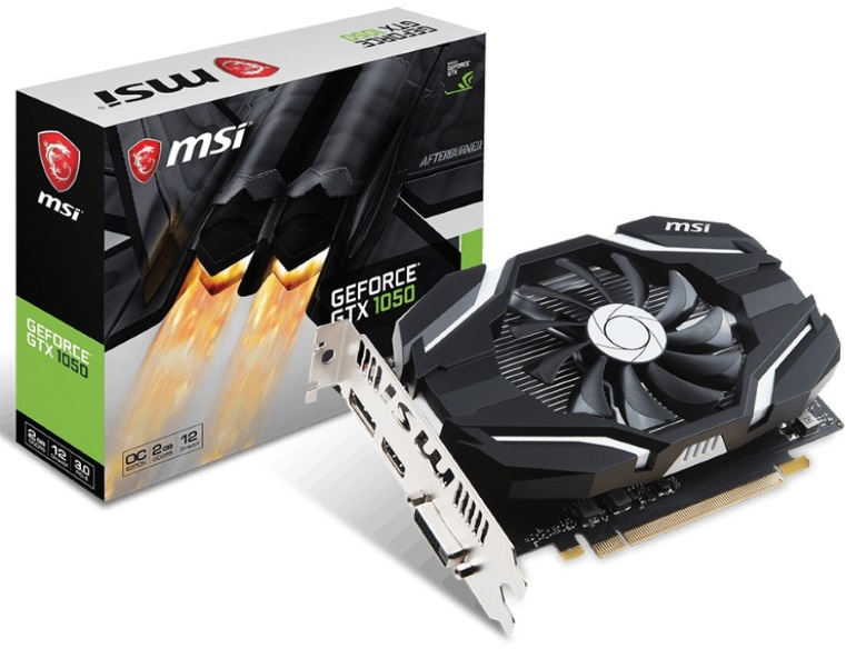 VGA MSI GTX 1050 OC 2GB 1 Fan