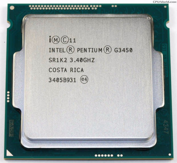 CPU Intel® Pentium® Processor G3450 3M Cache, 3.40 GHz (tray)