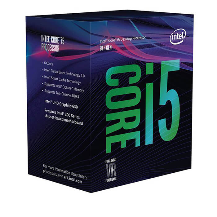 CPU Intel Core i5-9400F 2.90Ghz Turbo up to 4.10GHz, 9MB, 6 Cores 6 Threads, Socket 1151, Full Box, công Ty