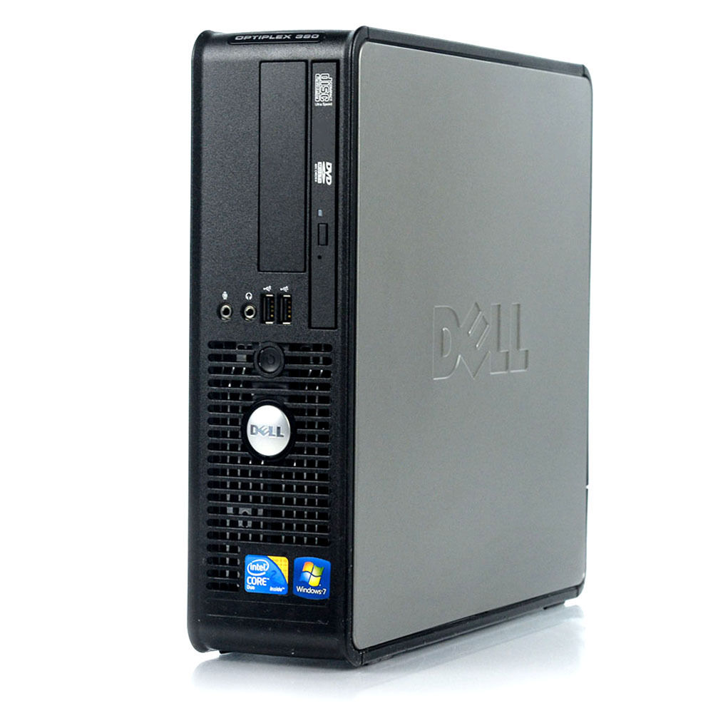 Máy tính Desktop Dell OptiPlex 360 , Intel Core 2 Duo E7500 2.8GHz, 3GB RAM, 60GB SSD (cũ)
