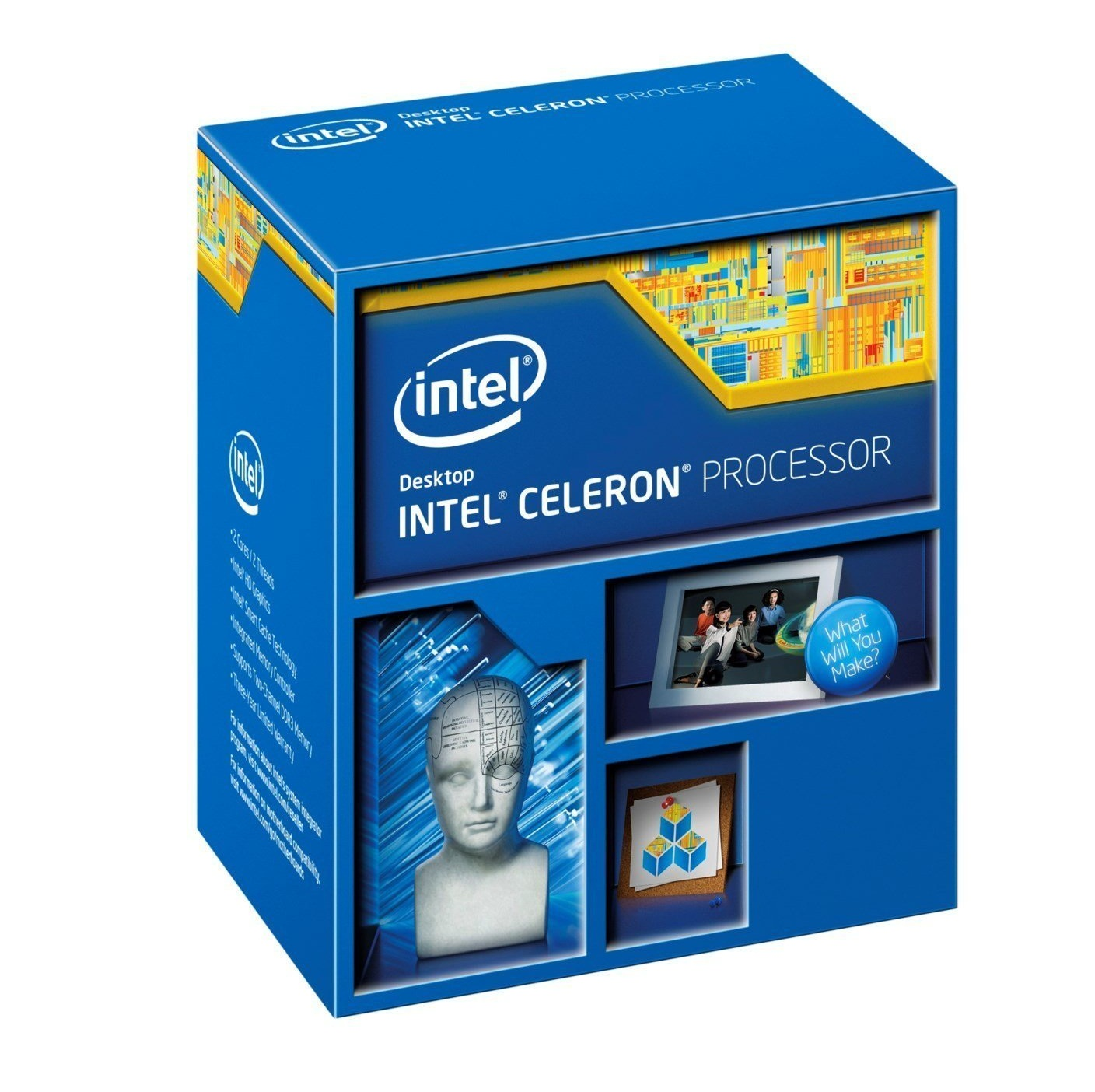CPU máy bàn Intel Celeron G1840 (2.8Ghz/ 2Mb cache) Full Box