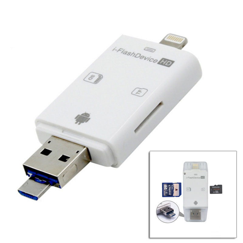 iFlash Drive USB Micro SD SDHC TF Card Reader for iPhone 5 6 plus ipad Android